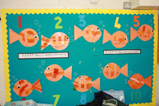 Fish Counting Display, classroom displays, class display,animal, animals, underwater, fish,counting, Early Years (EYFS), KS1&KS2 Primary Teaching Resources