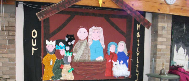 Our Nativity Display, classroom display, class display, Religion, Christmas,festival,stable, church, bible, Early Years (EYFS), KS1 & KS2 Primary Resources