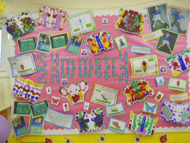 Symmetry Maths Display, classroom display, class display, numeracy, maths, math, numbers, counting, symmetry,Early Years (EYFS),KS1 & KS2 Primary Resources