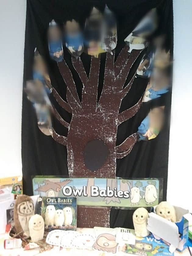 Owl Babies Display, Classroom Display, Owl, Babies, Display,Class,Classroom, Reading,Story, Tales, Animals Early Years (EYFS), KS1 & KS2 Primary Resources