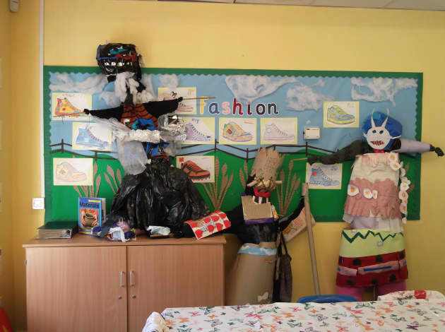 Fashion Display, classroom display, fashion, clothes,class, children work,  children ideas, Early Years (EYFS), KS1 & KS2 Primary Resources
