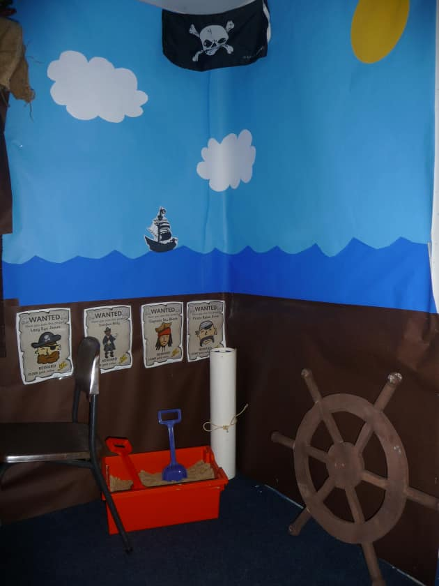 Pirates Display, class display, Pirates, Roleplay , Topic, Classroom Display, Sand box, Early Years (EYFS), KS1 & KS2 Primary Resources