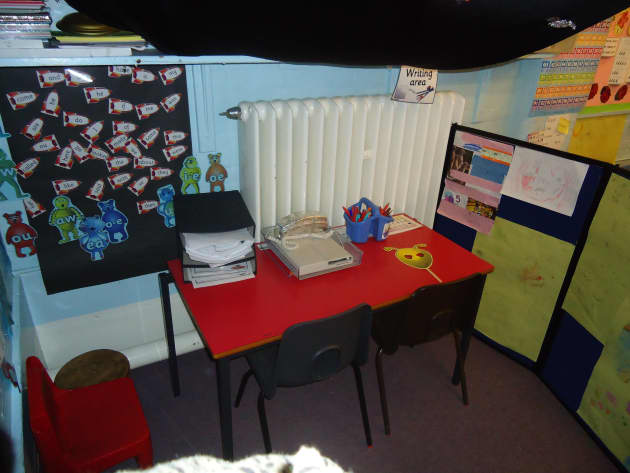 Space Writing Area Display, class display, letters, sounds, letters and sounds, area, table, dfes, writing, Early Years (EYFS), KS1&KS2 Primary Resources