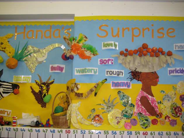 Handas Surprise, class display, Handas Surprise, Story Book, Fruits, Africa, Safari, Early Years (EYFS), KS1 & KS2 Primary Resources