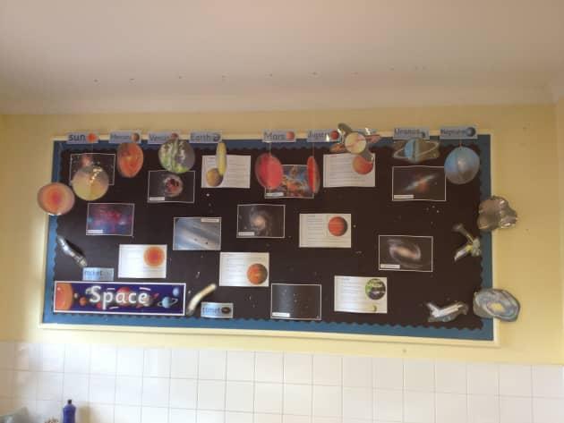 Space Display, Space, Earth, Mars, Science, Sun, Jupiter, Uranus, classroom display, class display, Early Years (EYFS), KS1 & KS2 Primary Resources