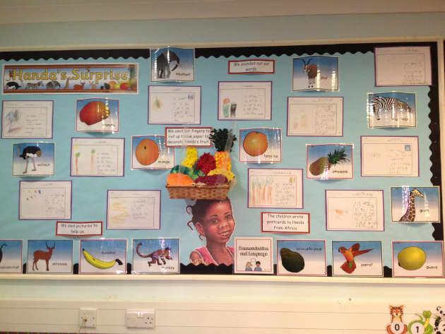 Handas Surprise Display, Handas Surprise, Africa, Fruits, Surprise, Orange, Banana, Safari, Mango, Early Years (EYFS), KS1 & KS2 Primary Resources