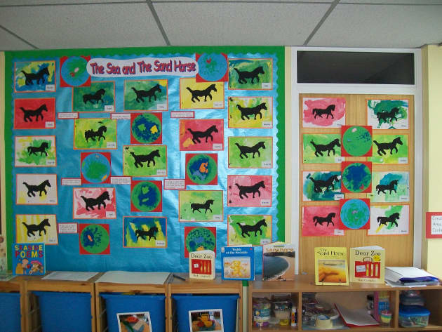 Art and Colour Display, class display, Art, Colour, Horse, Sea, display, art and colour, the sand horse, Early Years (EYFS), KS1 & KS2 Primary Resources