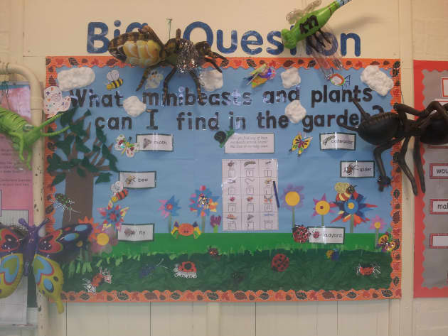 Minibeasts, Insects, Bee, Fly, Moth, Caterpillar, Spider, Ladybird, Display, Classroom display, Early Years (EYFS), KS1 & KS2 Primary Teaching Resources