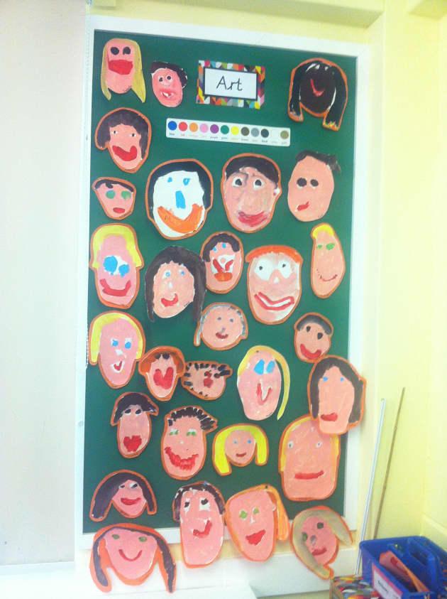 Art, Self portraits,  Art & Colour, Display, Classroom display