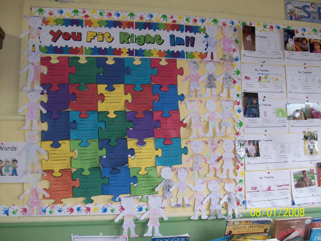 Pshe And Rules You Fit Right In Jigsaw Classroom Display