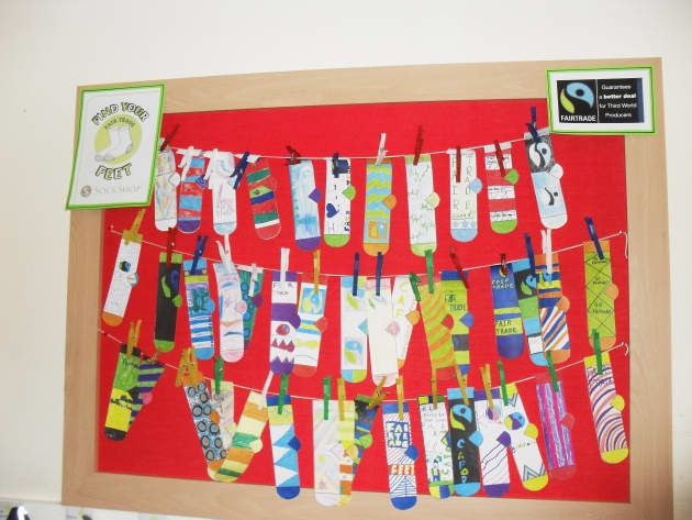 Modern Classroom Design Ideas ~ People who know us find your feet socks classroom display