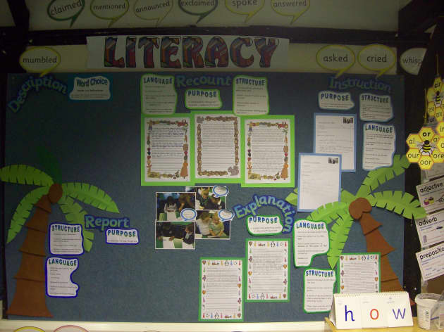 Literacy, Language, Structure, Explanation, Word Choice, Purpose, How, Display, Classroom Display, Early Years (EYFS), KS1 & KS2 Primary Teaching Resources