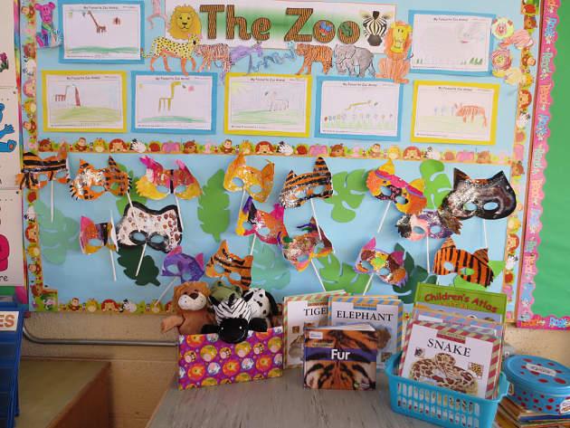 Modern Classroom Board ~ Animal the zoo masks making display classroom