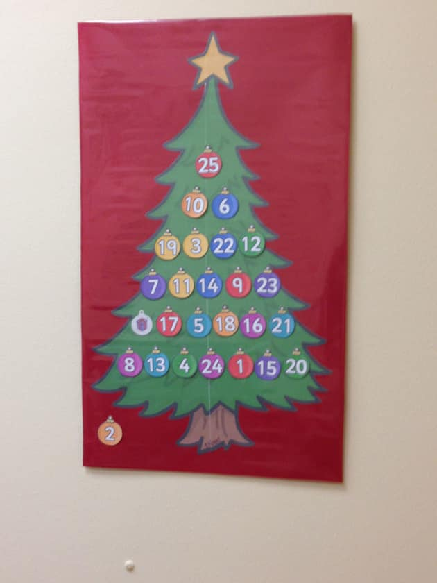 Christmas Christmas Tree Advent Display Classroom Display