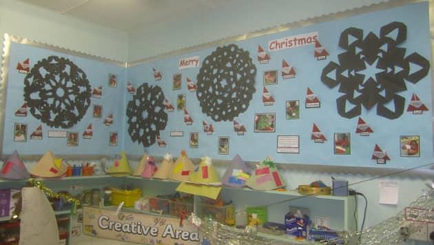 Christmas, Creative Area, Snowflake, Giant Snowflake, Merry Christmas, Display, Classroom Display, Early Years (EYFS), KS1 & KS2 Primary Teaching Resources