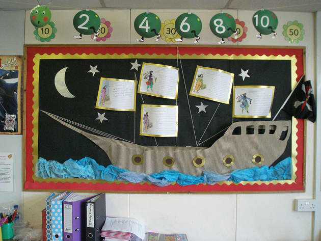 Pirates, Pirate ship, Number, Pirate, Water Sea, Pirating, Moon, Star, Display, Classroom Display, Early Years (EYFS), KS1 & KS2 Primary Teaching Resources
