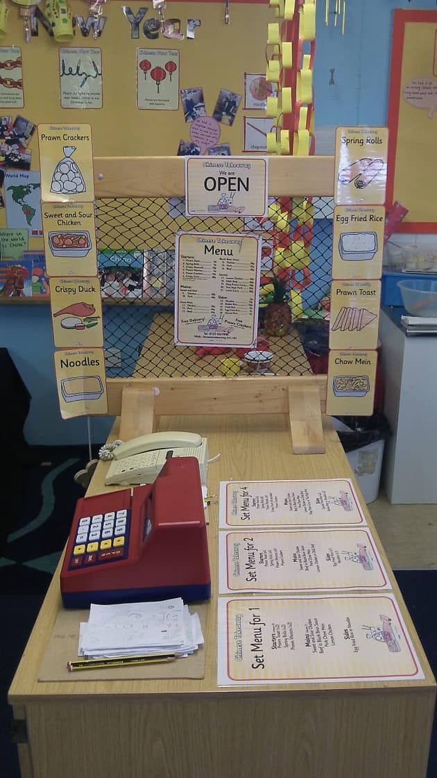 Role Play, Menu, Chinese, Chinese Menu, Open Restaurant, Restaurant, Display, Classroom Display, Early Years (EYFS), KS1 & KS2 Primary Teaching Resources