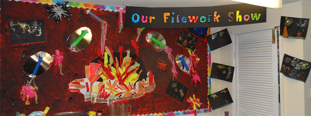 Art and Colour, Our Firework Display, Display, Classroom Display, Colours, Rockets, Explosion, Early Years (EYFS), KS1 & KS2 Primary Teaching Resources
