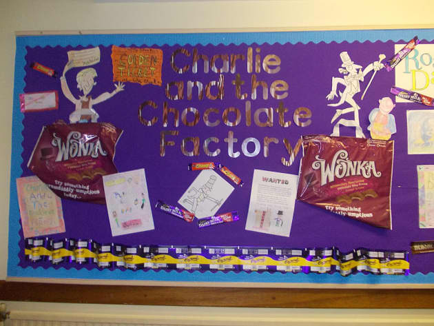 Outdoor Classroom Design Ideas ~ Stories and tales charlie chocolate display classroom