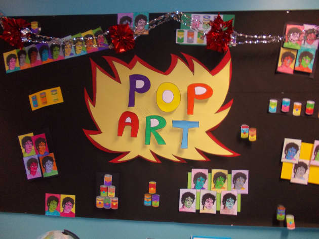 Art & Colour, Pop Art, Artists, Display, Art, Style, Different Colours, Colour, Classroom Display, Early Years (EYFS), KS1 & KS2 Primary Teaching Resources