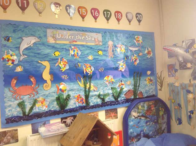 Classroom Display Ideas Under The Sea ~ Animals under the sea crabs seahorse fish classroom