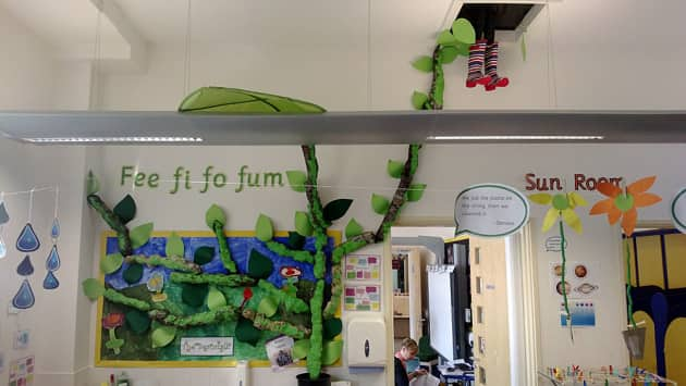 Modern Technology In Classroom Teaching ~ Stories tales jack the beanstalk display classroom