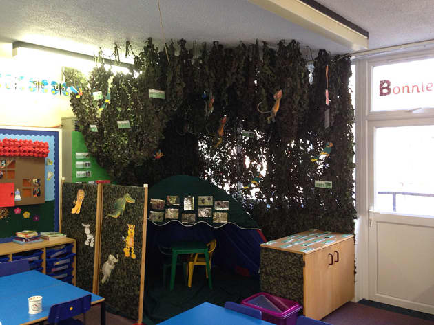 Role Play Rainforest Tree Camouflage Display Classroom
