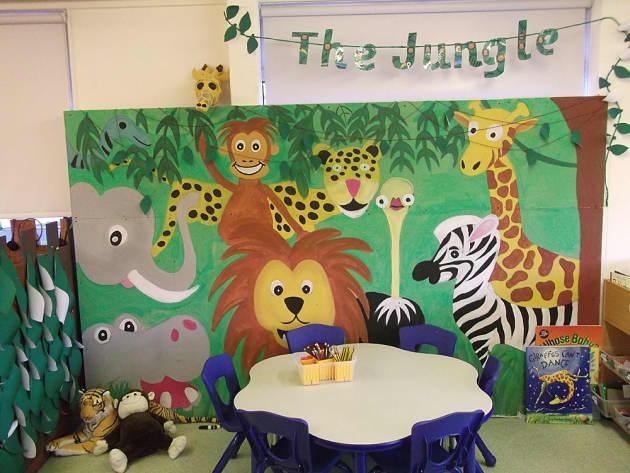 Classroom Display Design ~ Animals the jungle elephant tiger display classroom