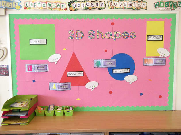 Numeracy, 2D Shapes, Triangle, Shapes, Circle, Rectangle, Shape, Math, Display, Classroom Display, Early Years (EYFS), KS1 & KS2 Primary Teaching Resources