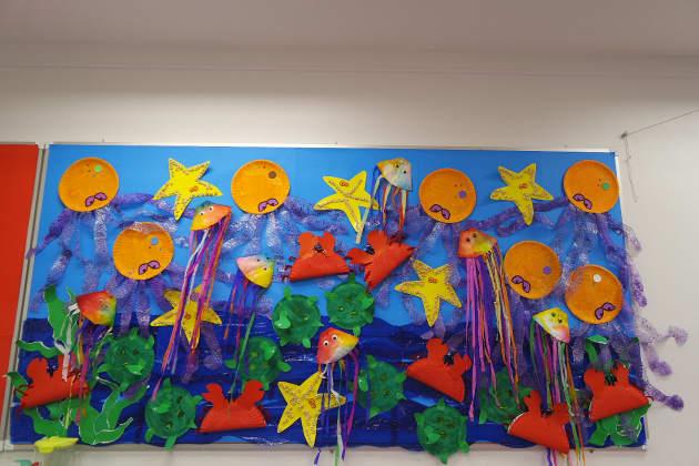 Classroom Display Ideas Under The Sea ~ Sea display ocean fish starfish sealife art craft