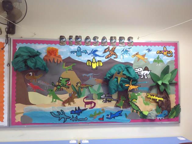 Dinosaurs Classroom Display, dinosaurs, extinct, photo, display