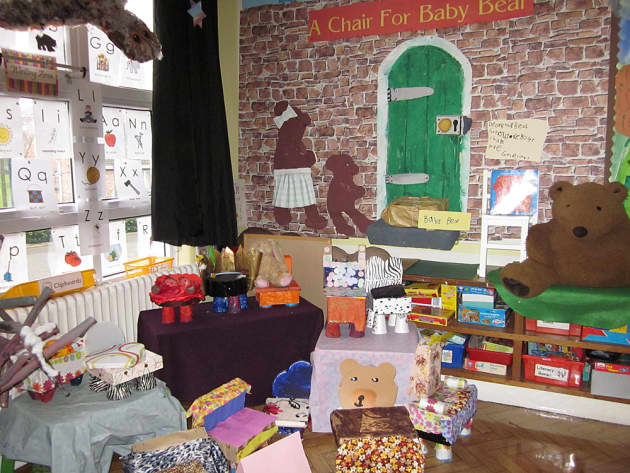 A Chair for a Baby Bear Display, classroom display, class display, Story, baby bear, bear, reading, chair, Early Years (EYFS), KS1 & KS2 Primary Resources