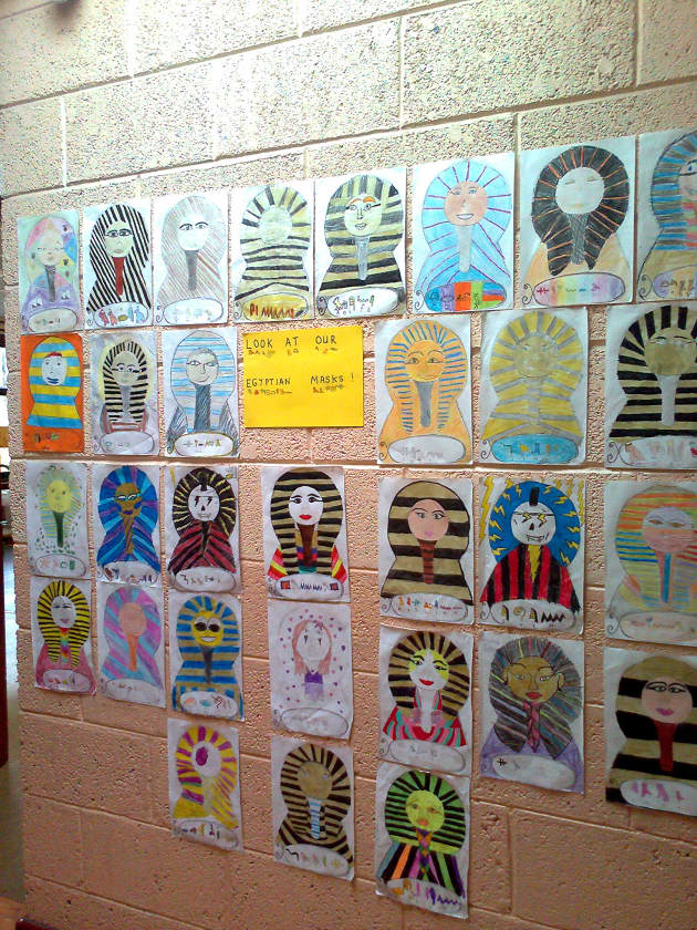 Classroom Design For Nursery ~ Egyptian mask display classroom history