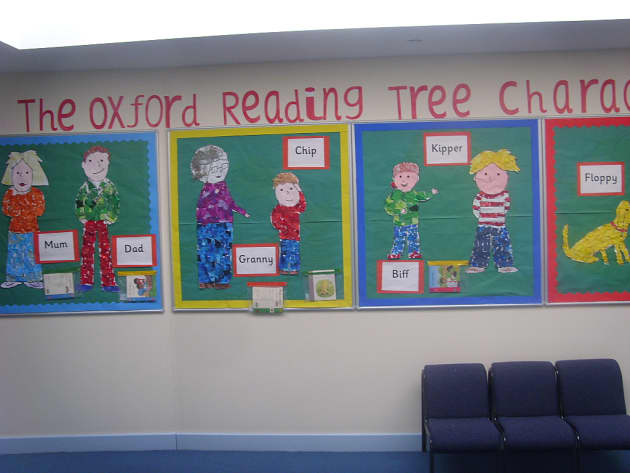 Character Tree Display Classroom Display Biff And Chip Family