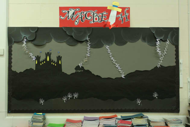 Classroom Rules Design ~ Macbeth display play theater shakespeare witches