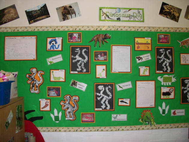 Primary Classroom Design Ideas ~ Dinosaur dig display classroom displays archaeology