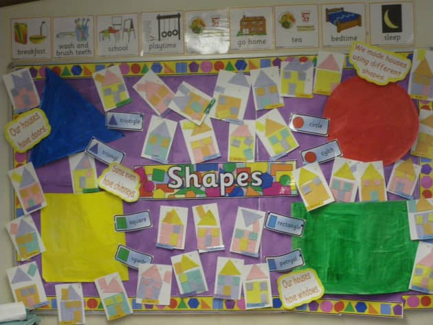 Shapes Display Classroom Display Circle Triangle Shapes