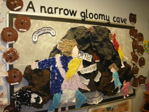 Gloomy Cave Bear Hunt Display Classroom Display Bear