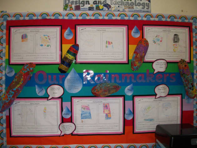 Our Rainmakers Display, Classroom Display, class display, technology, design, music, rainmakers, instrument,Early Years (EYFS), KS1 & KS2 Primary Resources