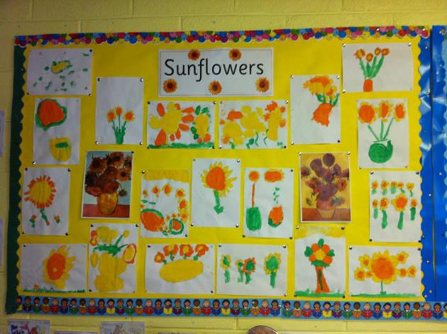sunflower art display classroom display plant flower sunflower. Black Bedroom Furniture Sets. Home Design Ideas