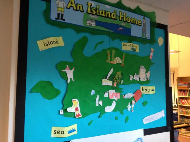 An island home map display classroom display geography book an island home map display classroom display gumiabroncs Images