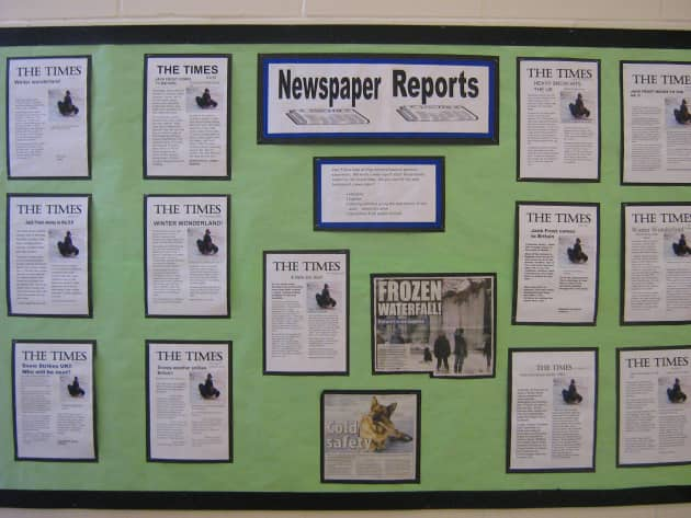 Newspaper Reports Display Classroom Displays Newspaper