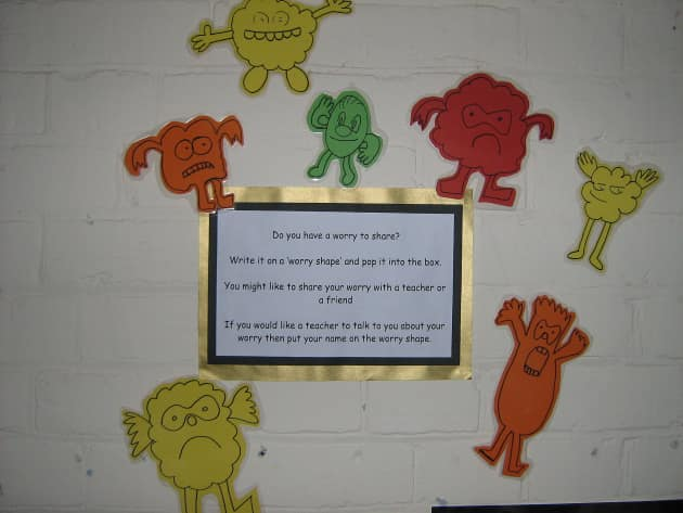 Worry Shapes Display, Classroom Display, class display, worry, ourselves, share, talk to teacher, support, Early Years (EYFS), KS1 & KS2 Primary Resources