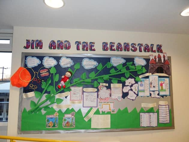 Jim and the Bean Stalk Display, classroom display, class display, Story, book, bean stalk, reading, magic, Early Years (EYFS), KS1 & KS2 Primary Resources