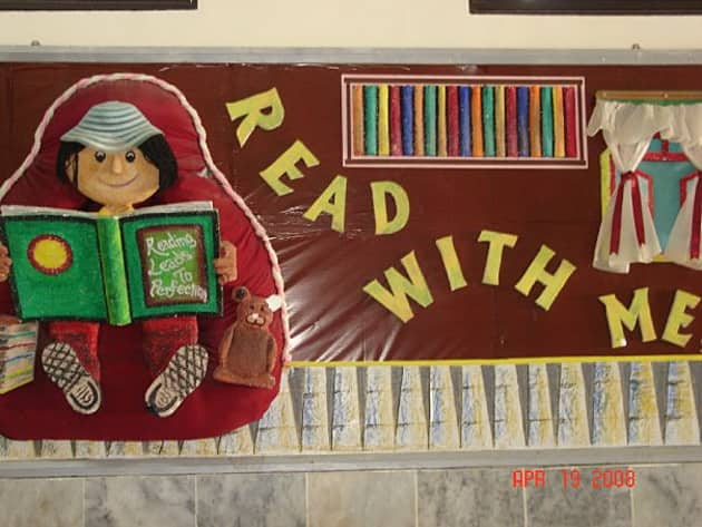 Read With Me Display, classroom display, class display, read, book, story, books, reading, illustration, Early Years (EYFS), KS1 & KS2 Primary Resources