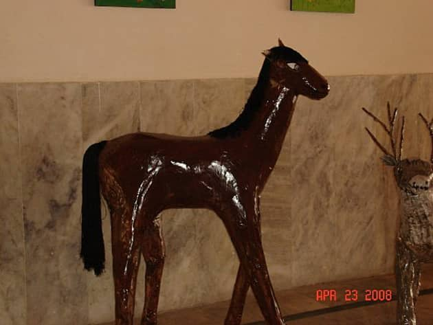 Horse Sulpture Art Display, classroom display, class display, zoo, art, creative, animals, paper mache, make,Early Years (EYFS),KS1 & KS2 Primary Resources
