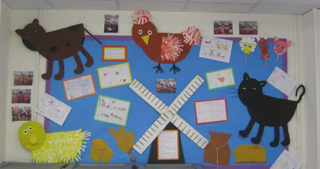 Classroom Design Powerpoint ~ Little red hen display classroom story
