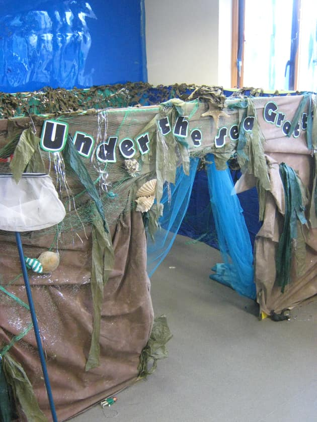 History Classroom Decoration ~ Under the sea grotto display classroom roleplay