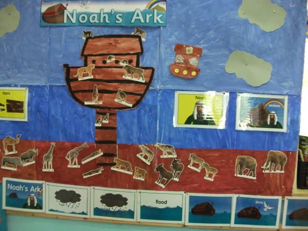 Noahs Ark Story Display classroom