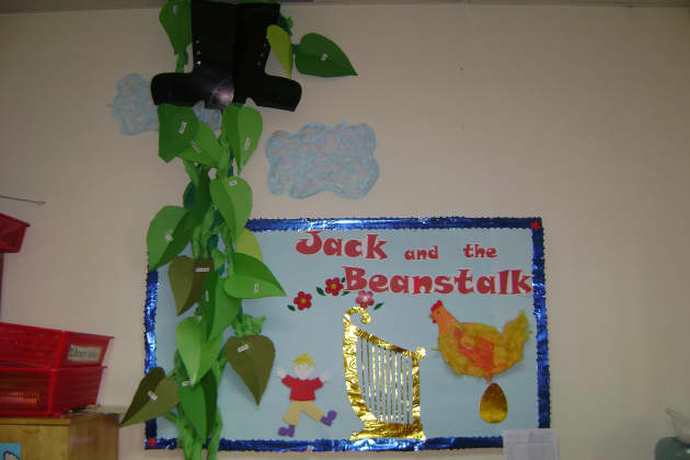 Jack and the Beanstalk Display, classroom display, class display, Story, book, bean stalk, reading, magic, Early Years (EYFS), KS1 & KS2 Primary Resources